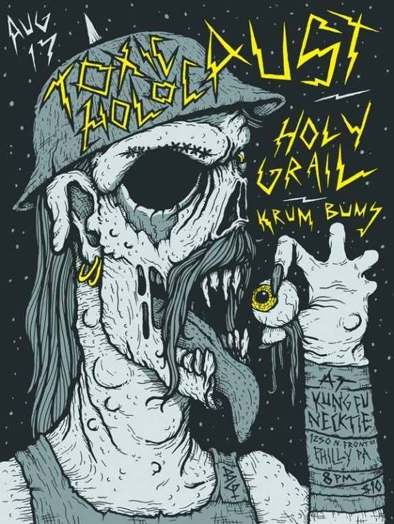 FYI Monday Brunofsky Toxic Holocaust Gig Poster #gig #poster