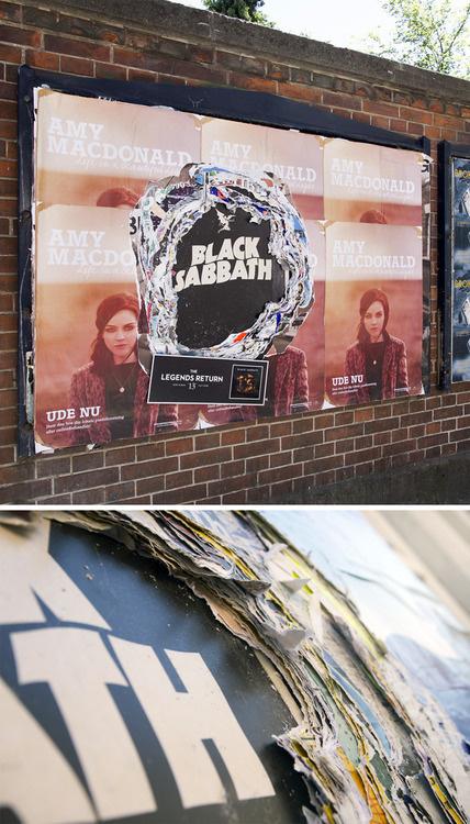 Designersgotoheaven.com Cool outdoor advertising for Black Sabbath, Legends Return by AndreasRasmussen. #back #peal #advertising