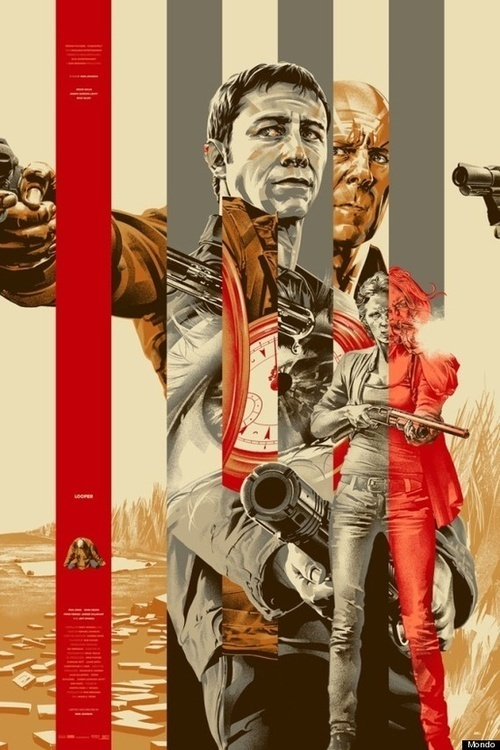 Illustration/Painting/Drawing inspiration #looper #illustration #movie #poster