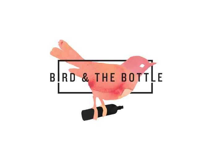 Bird and the Bottle Logo Branding by Josip Kelava #bird #bottle #logo #restaurant #branding #red #watercolour #handwritten #josip #kelava