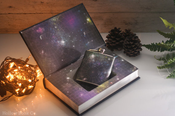 Hollow Book Safe The Ultimate Hitchhiker's Guide to the Galaxy (LEATHERBOUND) #safe #flask #books #book #space #etsy #galaxy #hollowbookco