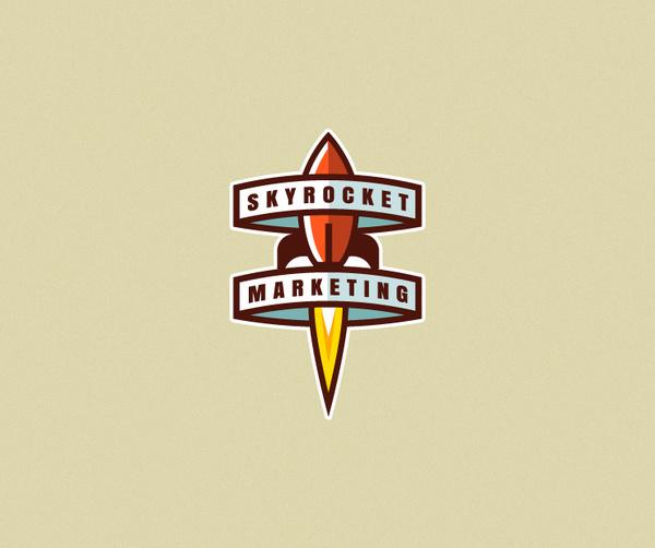 Skyrocket Marketing #logo #rocket