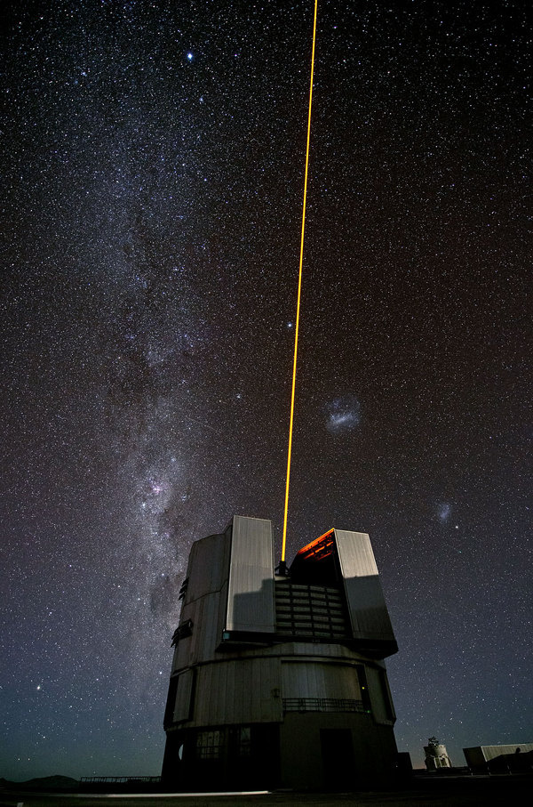 The Comet and the Laser #eso #universe #telescope #nasa #space
