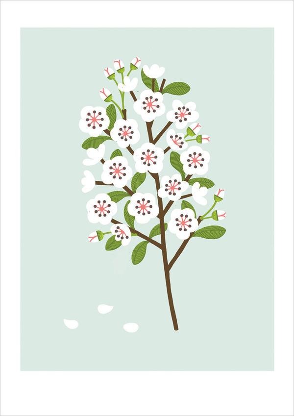 Etsy Finds: Sarah Abbot / on Design Work Life #flower #illustration
