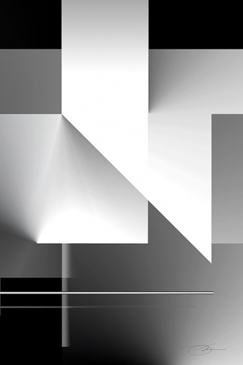 Black and White 8 #white #illusion #grayscale #geometric #black #cover #illustration #shape #art #and
