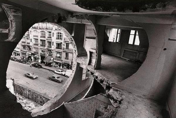 Patternity_HolePunch_GordonMattaClark #photography #architecture