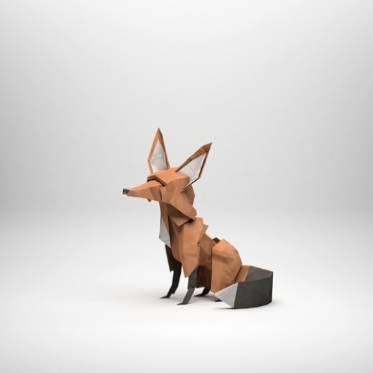 WANKEN - The Blog of Shelby White» Paper Sculptures by Jeremy Kool #fox #design #craft #handmade #papercraft