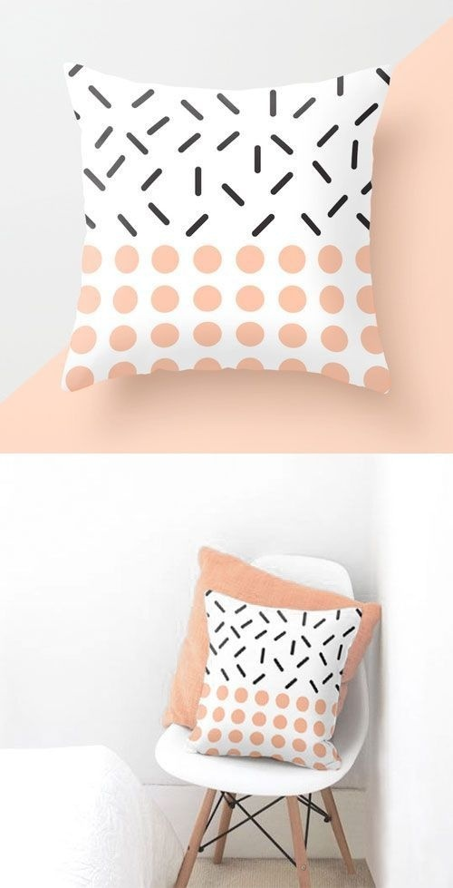 Minimal and simple geometric elements. Perfect for Scandinavian home. Clean and modern pattern. #design #pattern #cushion #chair