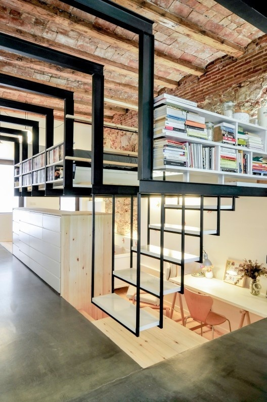 CJWHO ™ (Patio House In Gracia, Barcelona, Spain   Carles...) #staircase #spain #design #books #interiors #photography #architecture #barcelona