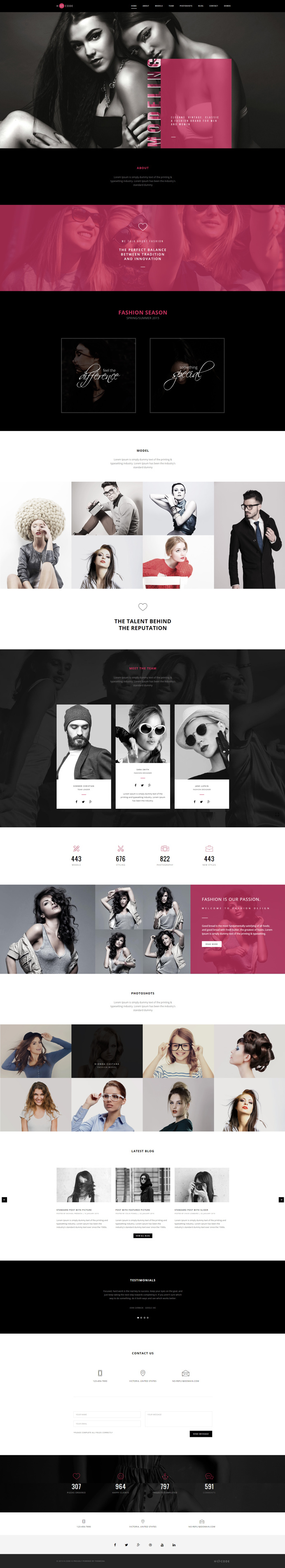 H-Code #Responsive & #Multipurpose #OnePage and #MultiPage #Template For #Fashion by #ThemeZaa http://goo.gl/ygs4kX