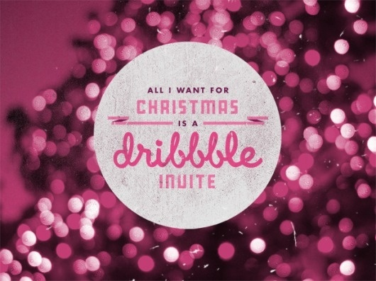 Doug Hucker #christmas #dribble #typography