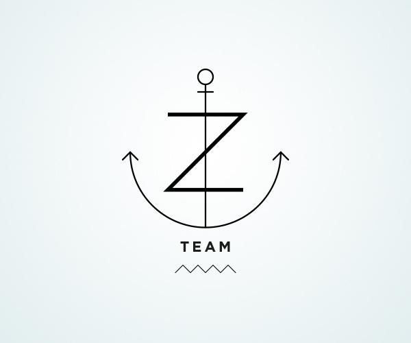 Z team / Logos on Behance / http://bit.ly/SrZQ0R #team #logo #diving #scuba #type #anchor