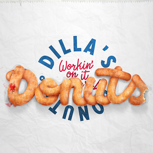 Typographical experiment for J Dilla's Donuts album artwork. #nicko #phillips #donuts #j #typography #donut #dilla