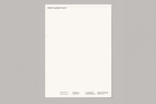 This is Real Art | Projects | British Copyright Council #branding #print #head #letter #identity #typography