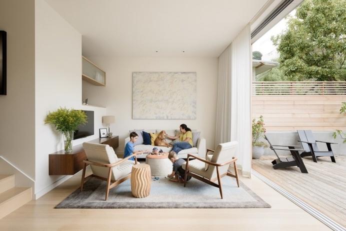 Unconventional Three-Story Atrium House