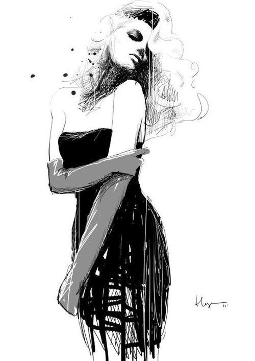 fashion #fashion #illustration #bw