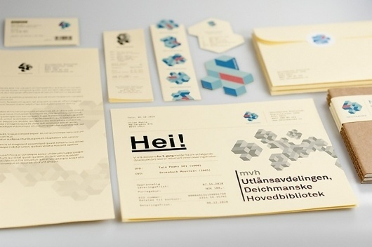 WANKEN - The Blog of Shelby White » Deichmanske Library Identity #business #mikael #floysand #cabinet #deichmanske #identity