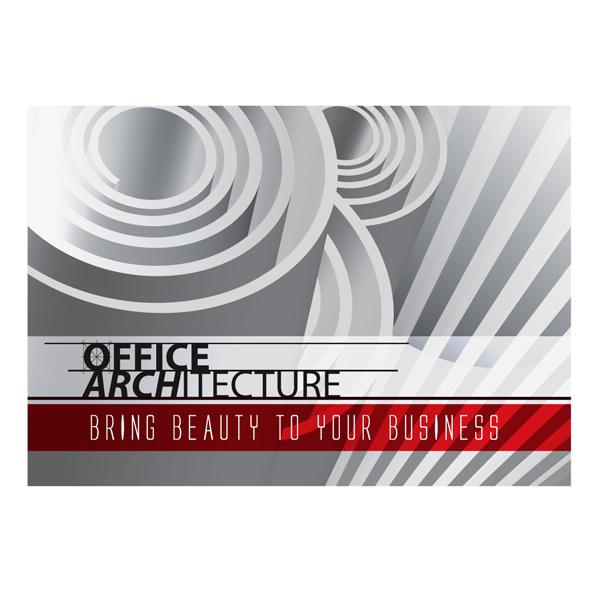 Office Architecture Single Pocket Folder Template #geometry #illustrator #geometric #architecture #template #ai