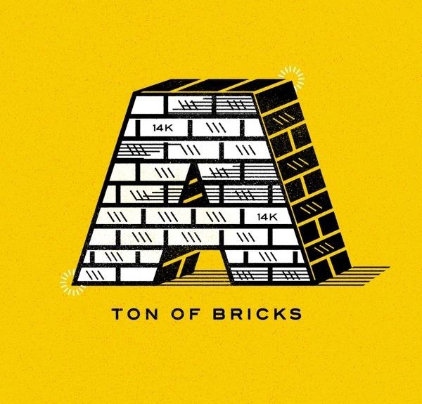 Ton of Bricks #ron #illustration #bricks #lewis