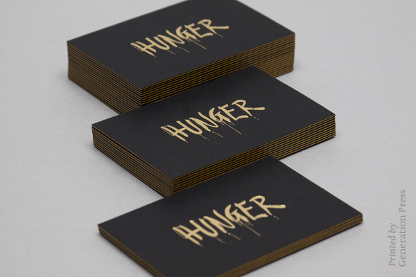 Hunger Stationery #business #edges #card #print #gold