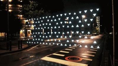 Colossal #geometry #motion #night #gif #street #light