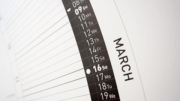 Circular Calendar #design #typography