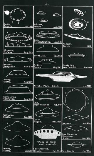 All sizes | UFO Sightings Chart | Flickr - Photo Sharing! #white #chart #black #illustration #ufo