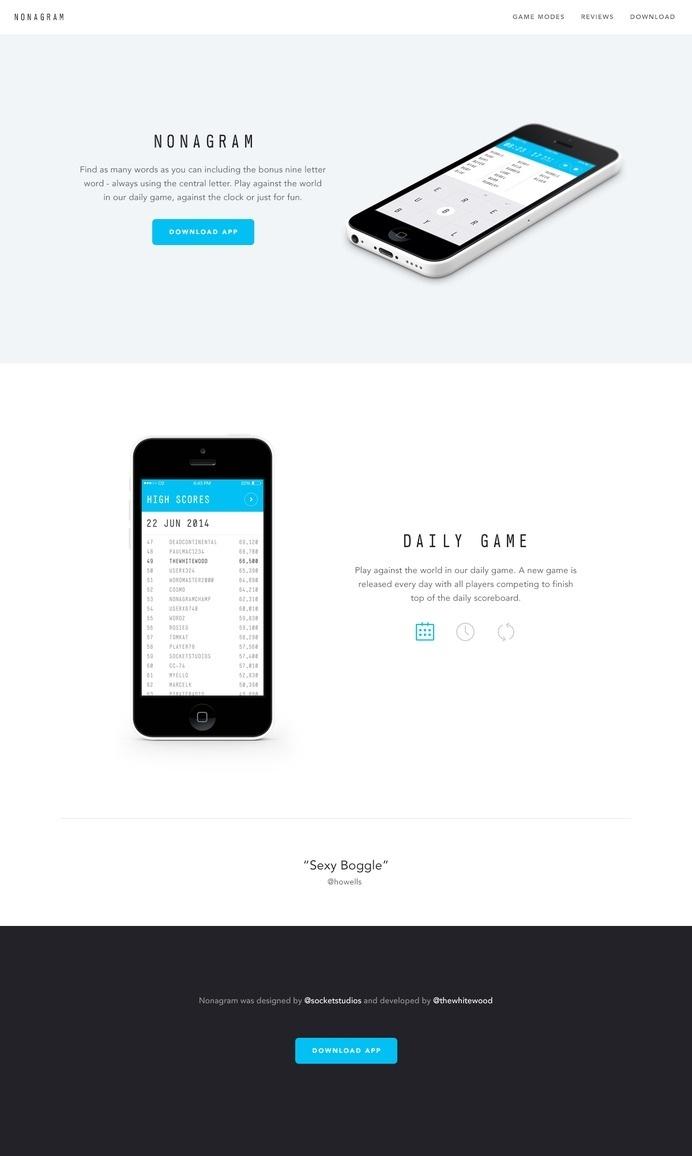 Nonagram - Website by Paul Macgregor #page #site #design #product #web #landing