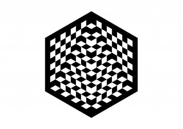 Pentagram #chess #white #branding #world #black #and #hexagon