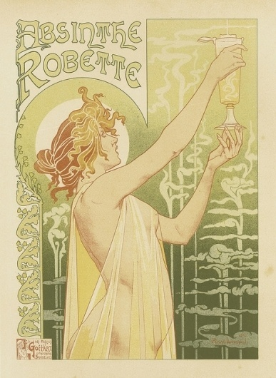 Gottart - Absinthe   Flickr - Photo Sharing! #boobies #nouveau #illustration #art #poster