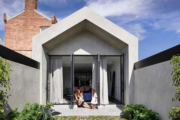 Casa Atrio Interconnects Decorative Classical Architecture with a Victorian-Era Home