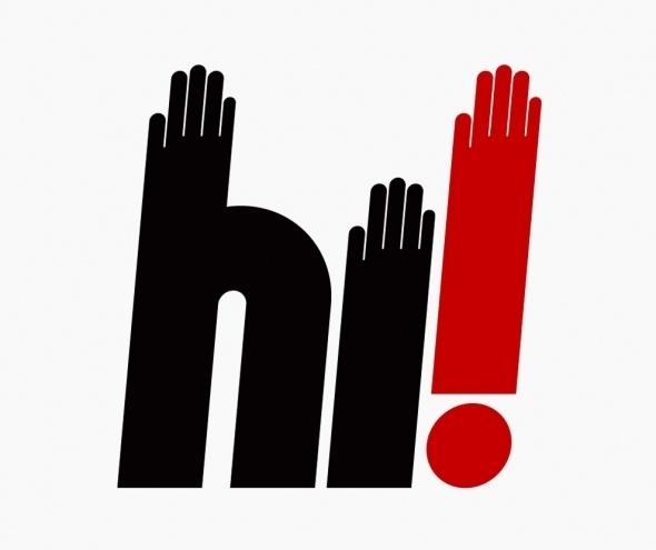 Kiss the Design / A3 Collectif | Design Graphique #hi #hand #hands