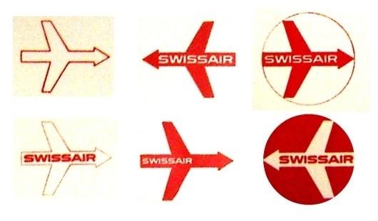 WANKEN - The Blog of Shelby White » Behind the SwissAir Logo #swiss #1950s #airlines #swissair #identity #logo