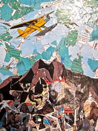 bigfoot-hills | SOLD #mod #collage #podge #art
