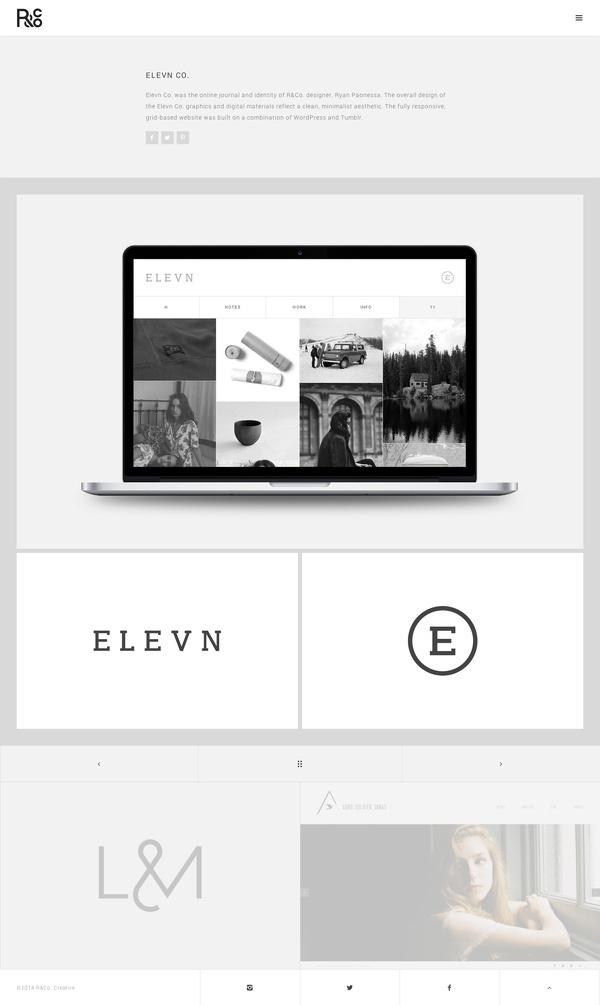 R&Co. Website http://r-ny.com/ #grid #design #web #minimal