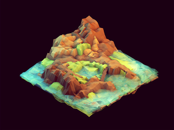 It is easy to imagine fantasy as physical and myth as real. Low-poly, isometric worlds by Tim Reynolds #isometric #polygon #reynolds #tim #world #worlds #geometric #poly #lowpoly #polygons #low