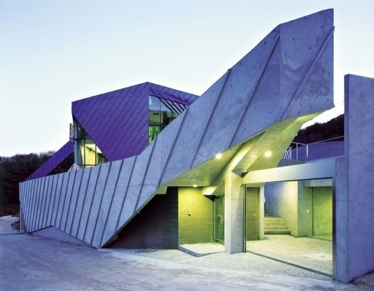 Purple Hill House | The Design Ark #hill #architecture #house #purple