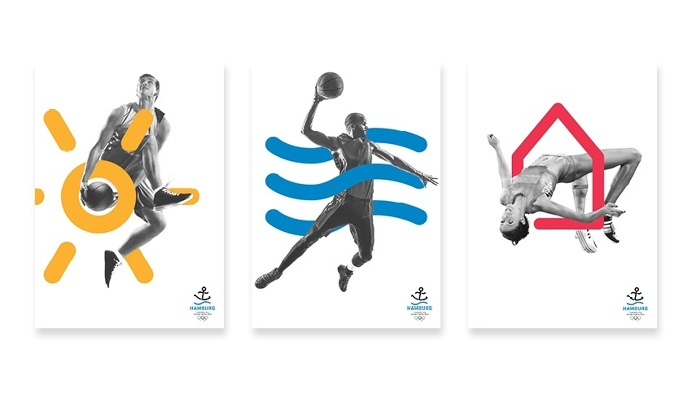 corporate design concept for the 2024 Olympic Games candidacy of Hamburg #Olympics #hojin #kang #Barbara Madl #cameokid #branding #Olympics