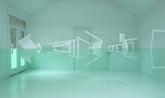 Kyung Woo Han | Green House Installation | bumbumbum #illusion #architecture #decoration