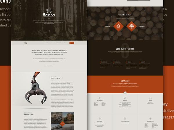 Florence Full #layout #orange #web #ui
