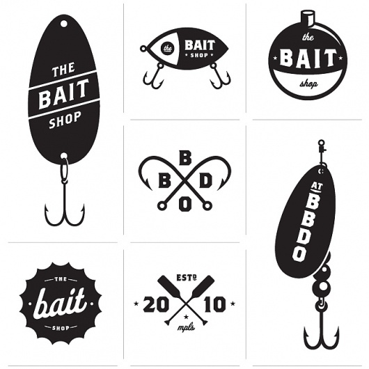 Allan Peters #bait #vector #blackwhite #logo #fishing