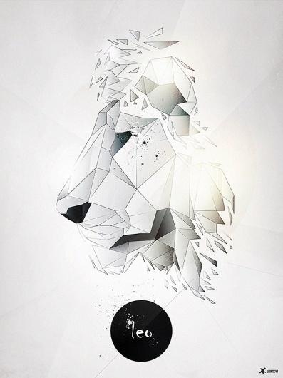 Leo | PIKTED #leo #shards #lion #geometric #glass #illustration