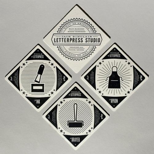 PrettyClever #print #design #letterpress #logo #grey