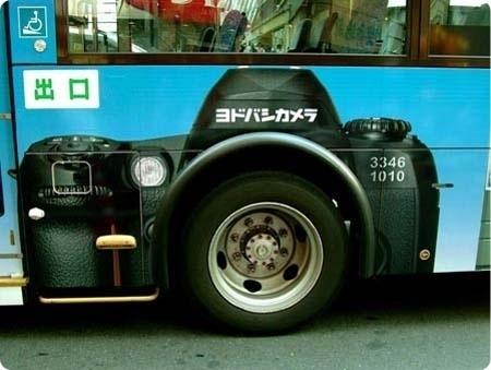 FFFFOUND! | Creative Advertising - 192 Smart & Clever Ads #bus #camera