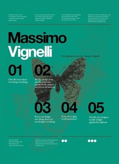 Onestep Creative - The Blog of Josh McDonald #massimo #vignelli #poster