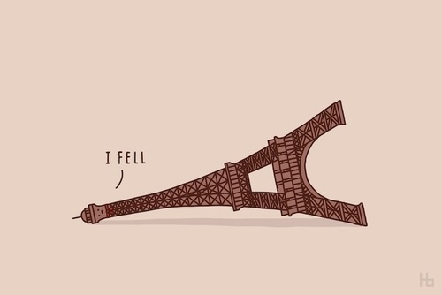 Funny Illustrations by Jaco Haasbroek #paris #illustration #eiffel #funny