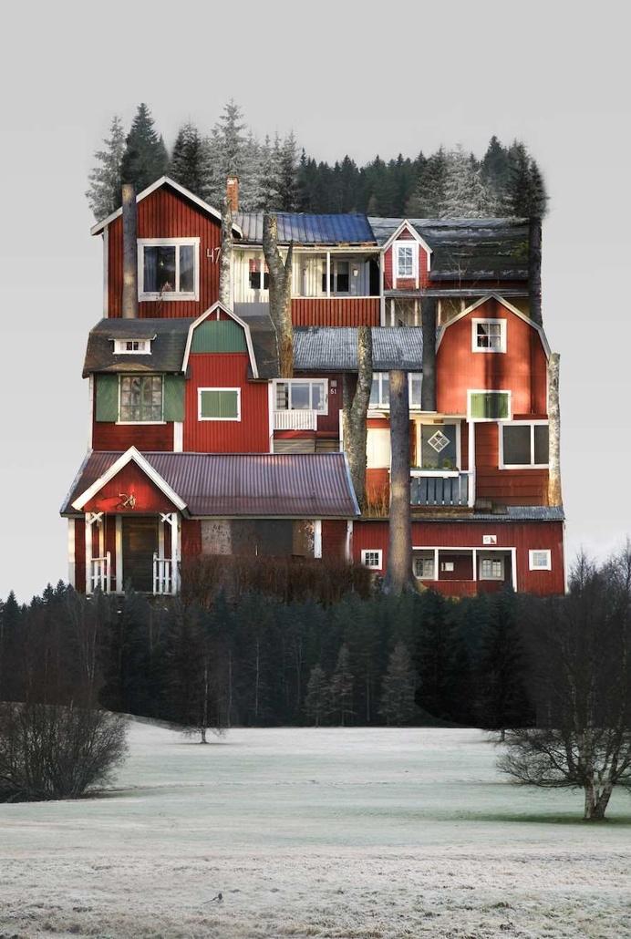 Architectural Collages by Anastasia Savinova