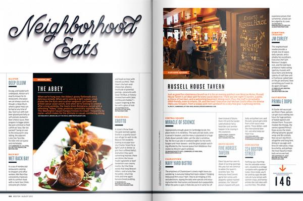 Best of Boston 2012 on the Behance Network #jordan #lettering #magazine #metcalf