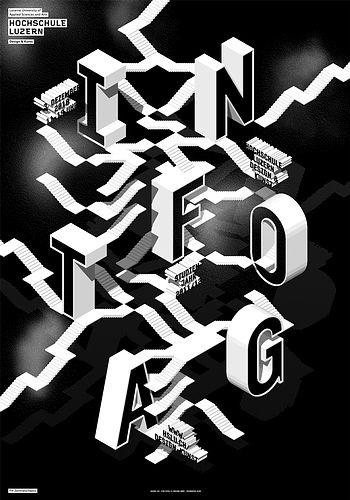 > Infotag 2010 #c2f #swiss #poster #typography