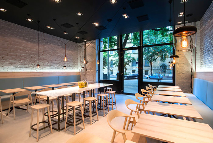 Greek Restaurant by Gasparbonta - #decor, #interior, #restaurant